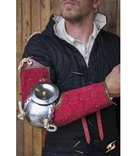 Proteção completa de um braço de Paladino, vermelho