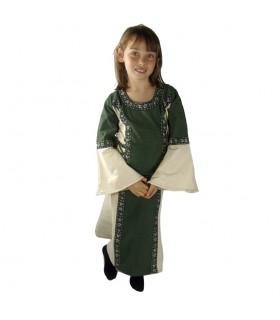 Vestido bicolor para meninas
