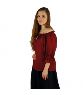 Blusa medieval para mulher, 2 cores