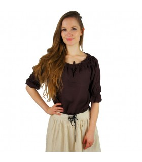 Blusa medieval para mulher, 3 cores