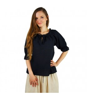 Blusa medieval para mulher, 3 cores