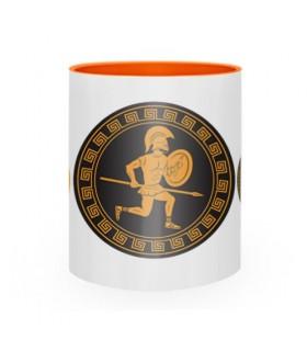 Copo Cerâmica Guerreiros Espartanos