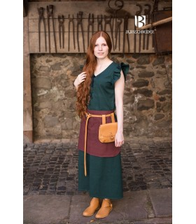Vestido Medieval Mulher Agga Verde