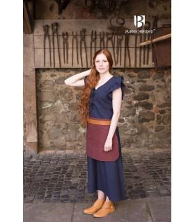 Vestido Medieval Mulher Agga Azul