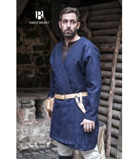 Túnica Medieval Loki azul manga longa
