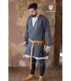 Túnica Medieval Loki cinza manga longa