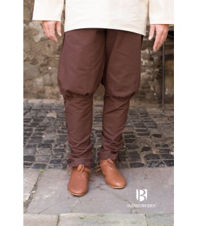 Calças medievais Wigbold, marrom