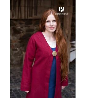 Brial Medieval Aslaug Vermelho em Lã