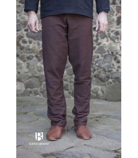 Calças medievais Ragnar, marrom escuro