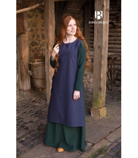 Sobrevesta Medieval Mulher Haithabu Azul