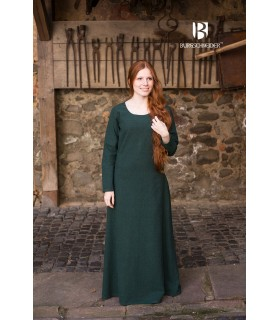 Túnica medieval Freya, verde escuro