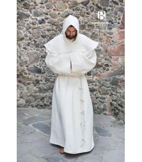 Traje de Monge medieval Benediktus, branco