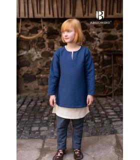 Túnica medieval para crianças, Ericson azul
