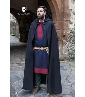 Camada medieval lã Hibernus, preta