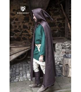 Camada medieval lã Hibernus, marrom