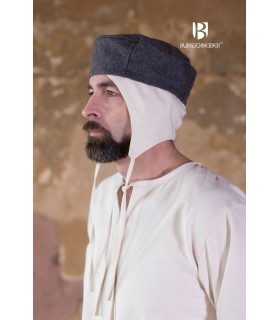 Gorro medieval Hugo, cinza