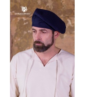 Chapéu renascentista Harald, azul