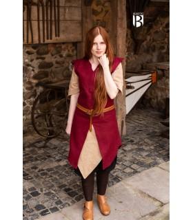 Túnica mulher Meril, lã vermelha