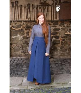 Saia medieval Mera, algodão azul