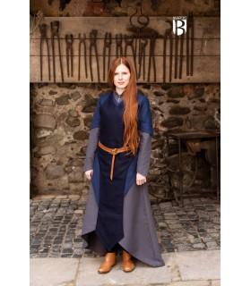 Avental medieval Asua, lã azul