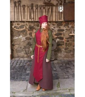 Chapéu de mago Dda, lã vermelha