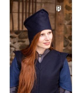 Chapéu de mago Dda, lã azul