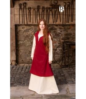 Vestido medieval Lannion, vermelho