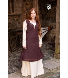 Vestido medieval Lannion, marrom