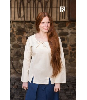 Blusa medieval Lysia, natural