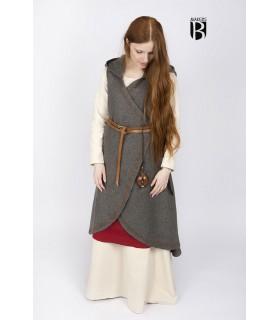 Brial medieval Myrana, lã cinzento