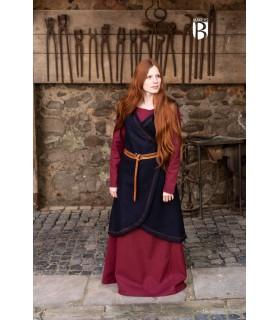 Brial medieval Myrana, lã azul