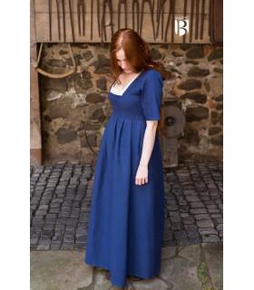 Vestido medieval Frideswinde, azul