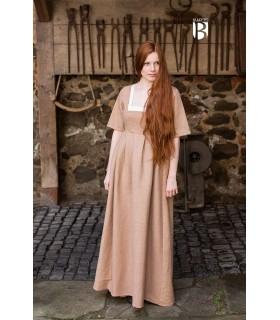 Vestido medieval Frideswinde, bege