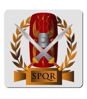 Ímã flexível Quadrado Legião Romana SPQR (7,4 x 7,4 cms.)