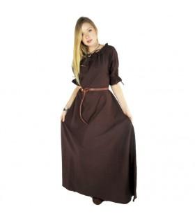 Vestido medieval Karen, marrom