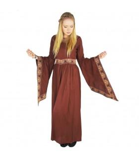 Vestido de nobreza medieval, vermelho borgonha