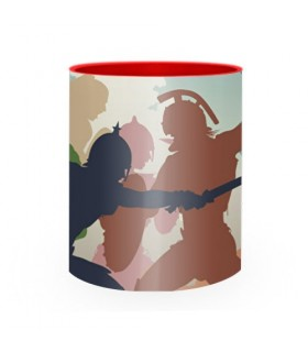 Caneca de Cerâmica Luta de Gladiadores Romanos
