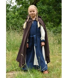 Camada medieval para crianças, marrom