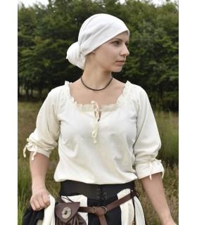 Blusa medieval mulher Birga, branco