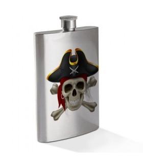 Cinto Caveira Pirata em Aço Inoxidável
