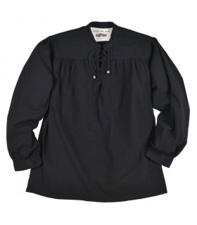 Camisa preta pirata Ludwig