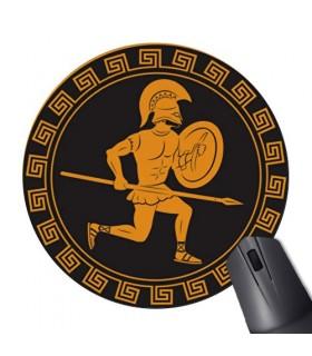 Tapete De Rato Redonda Guerreiro Espartano