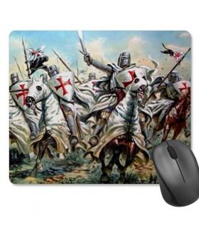 Tapete de Rato Retangular Cavaleiros Templários (23,5x19,5 cm)