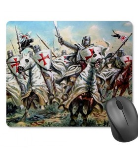 Tapete de rato retangular dos Cavaleiros Templários (23,5 x 19,5 cm)