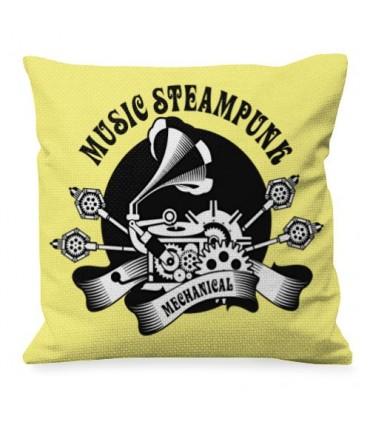 Almofada com Projeto de Música SteamPunk