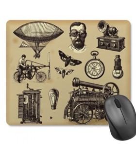 Tapete de Rato Retangular SteamPunk (23,5x19,5 cm)