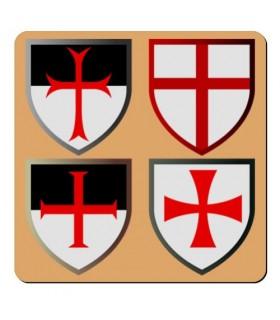 Ímã 4 Cruzes Cavaleiros Templários (7,4 x 7,4 cms.)
