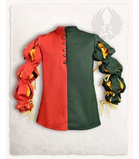 Colete mercenário Joerg, vermelho-verde