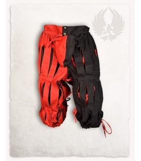Calça Mercenário Lansquenete, vermelho preto