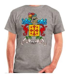 T-shirt personalizada com escudo heráldico 1 apelido